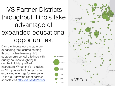 IVS Partner Districts throughout Illinois take advantage of expanded educational opportunities. To join our growing list of partner schools visit http://bit.ly/IVSPartner